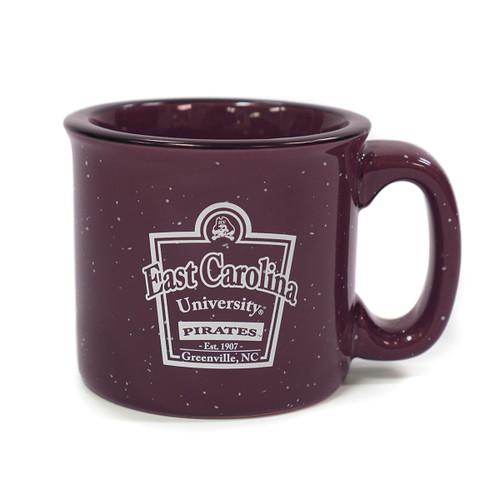 Purple Santa Fe ECU Pirates Speckle Mug