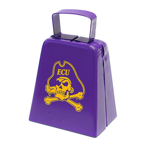 Purple & Gold Jolly Roger Cow Bell