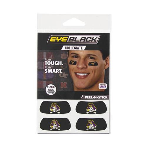 Black Jolly Roger Eyeblack Face Decals