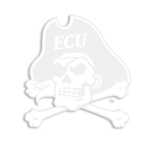 White Jolly Roger Decal