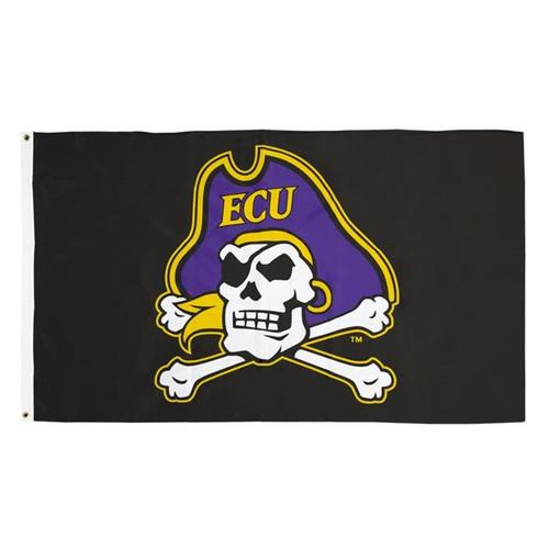 Black Jolly Roger Flag