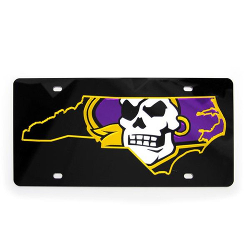 Black Pirate Nation License Plate