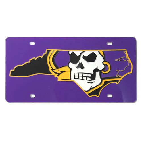 Purple Pirate Nation License Plate