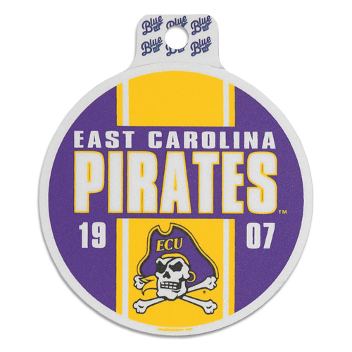 Vintage ECU Pirates 1907 Circle Sticker