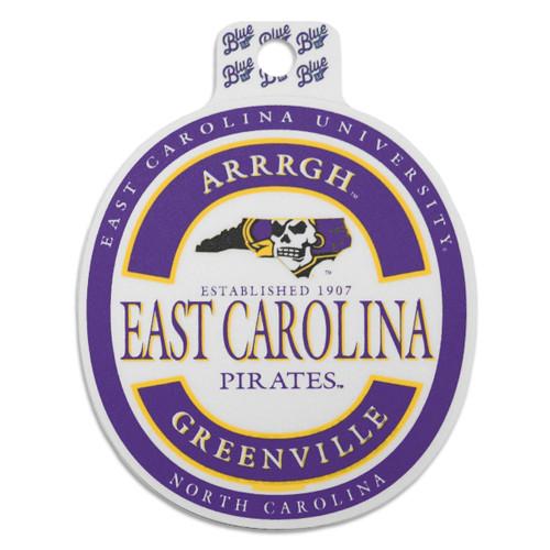 Vintage ECU Pirate State Of Mind Beer Label Sticker