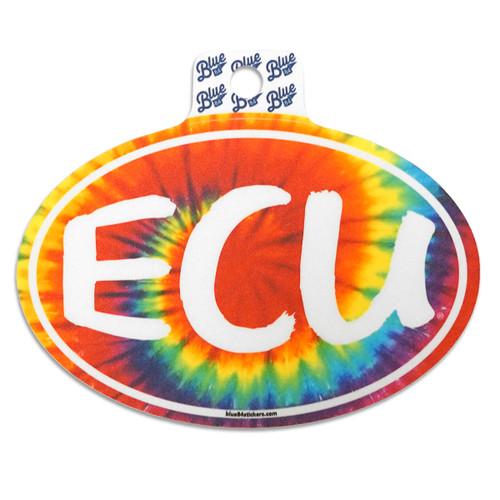 Vintage ECU Tie Dye ECU Oval Sticker