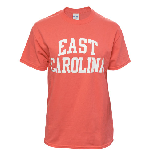 Coral Orange East Carolina Rainbow Tee