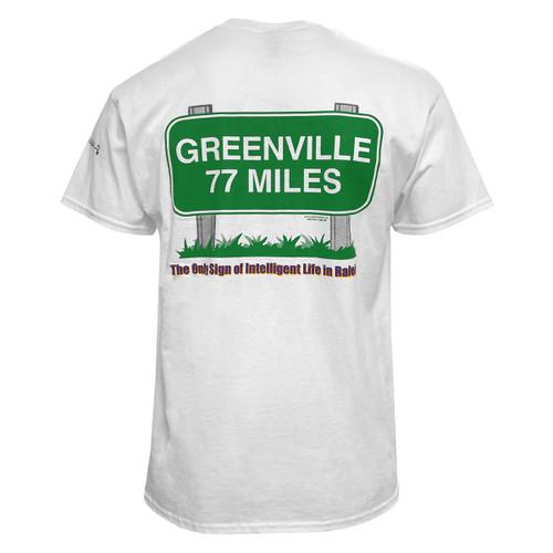 White 77 Miles ECU Tee