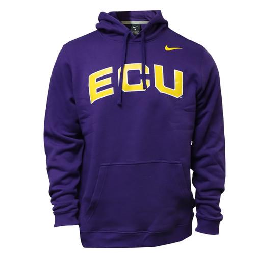 Purple ECU Arch Nike Hoodie
