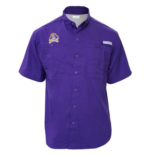 Purple Jolly Roger Tamiami Fishing Shirt