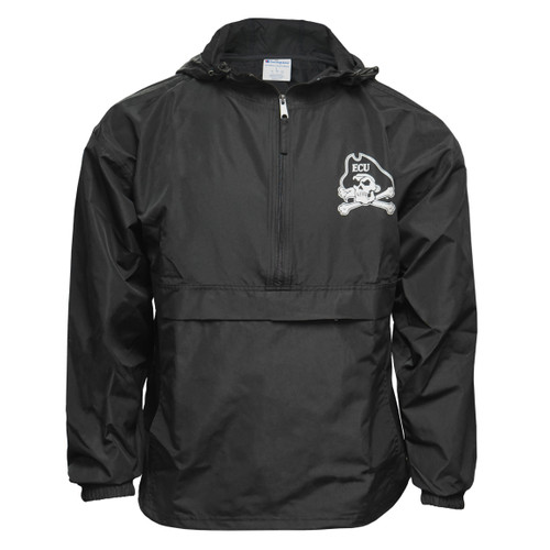 Black Pack N' Go Jacket with Reflective Jolly Roger