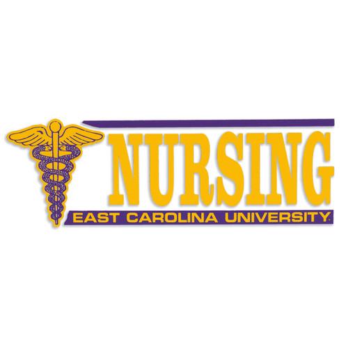 "Nursing Decal With Medical Symbol 7"""