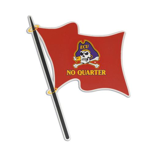 Decal No Quarter Crimson Flag