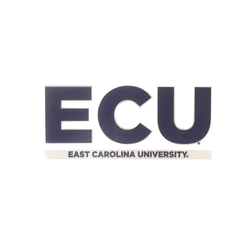ECU Purple and White Bar Design Decal