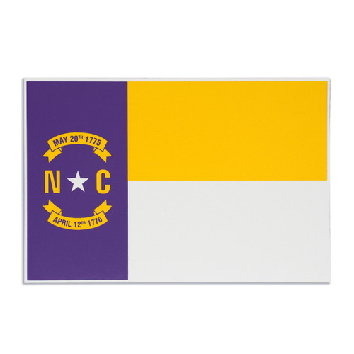 NC Purple and Gold Decal Flag