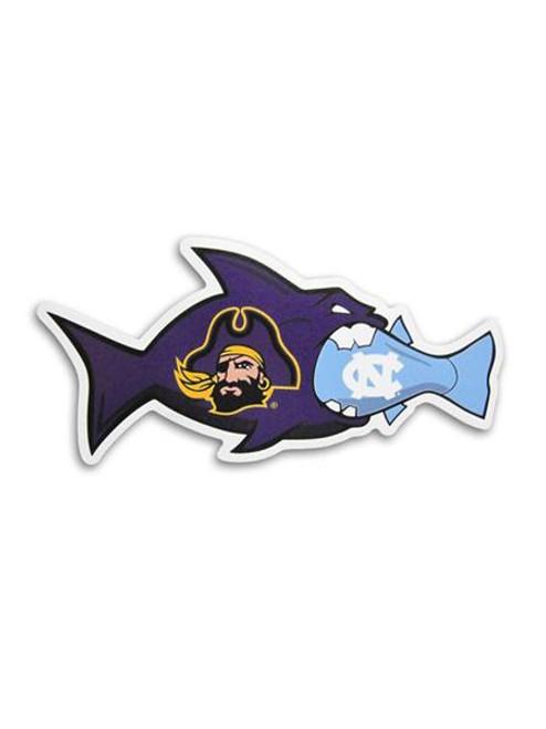 ECU Rival Fish Decal UNC