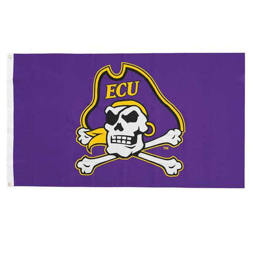 Purple Jolly Roger Banner Flag