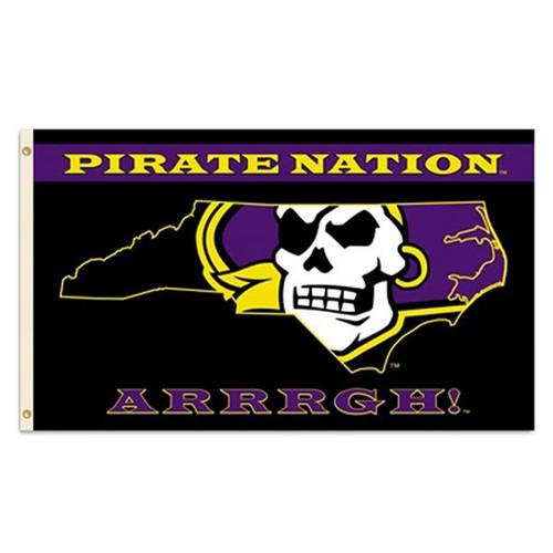 Black Pirate Nation ARRRGH Banner Flag