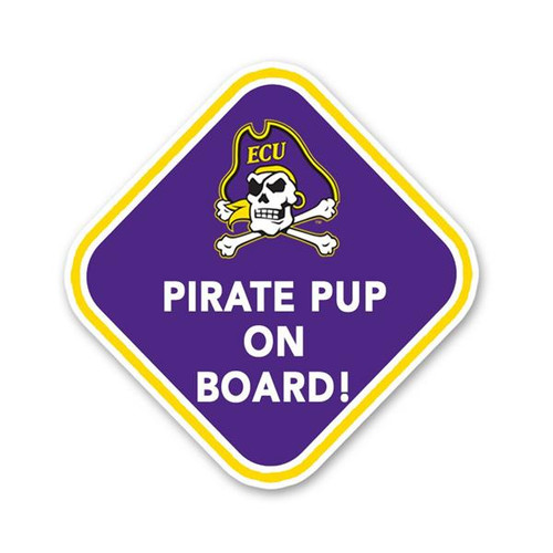 Purple Pirate Pup On Board Decal