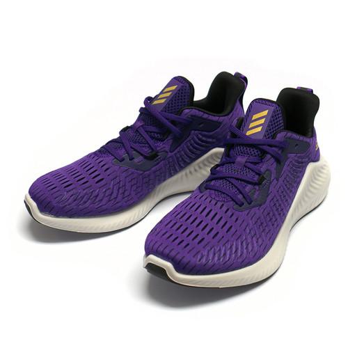 Purple 2019 AlphaBounce + Run Metallic Adidas Shoes