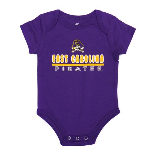 Infant Onesie Purple East Carolina Bar