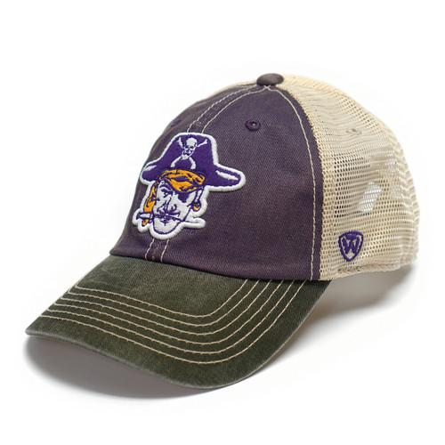 Vault Vintage Purple & Black Pirate Head Trucker Cap