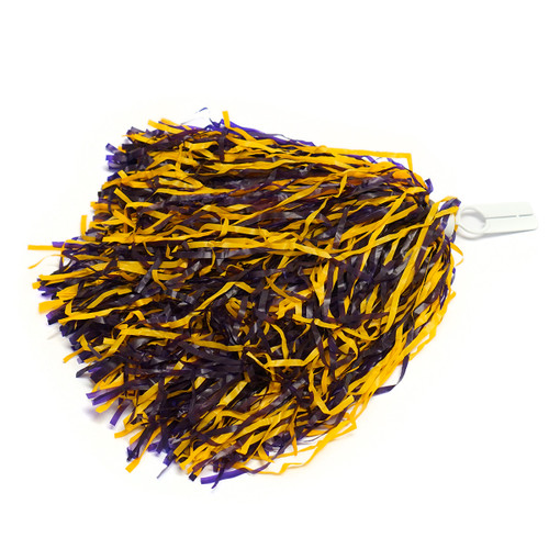 Purple & Gold Pom Poms