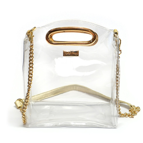 Gold & Clear Stadium Crossbody