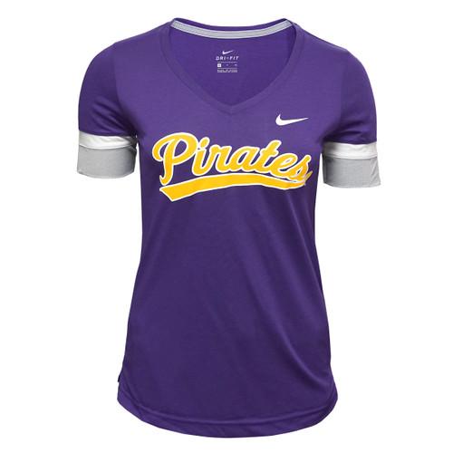 Purple Pirates V-Neck Sportster Tee
