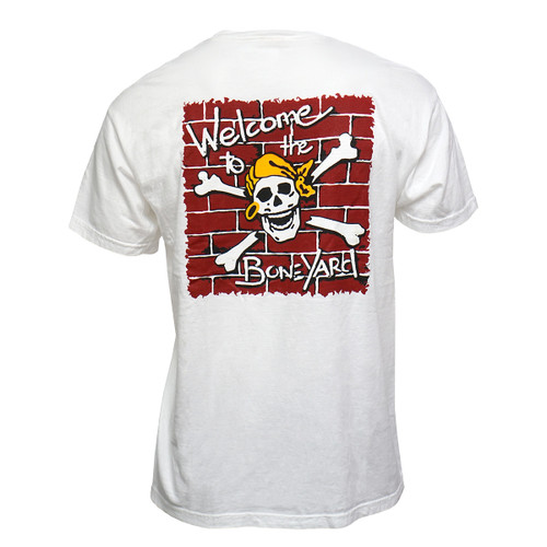 Skully Welcome To The Boneyard White Tee