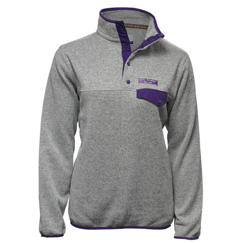 Ladies Oxford ECU Pullover with Purple Pocket