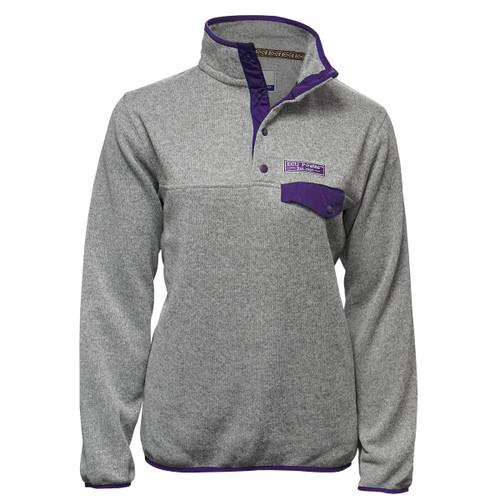 Ladies Oxford ECU Pullover with Purple Pocket