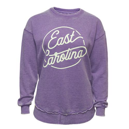 Vintage Purple East Carolina Ladies Sweatshirt