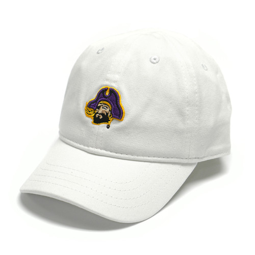 Toddler White Cap with Piratehead