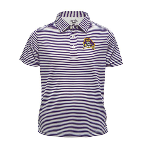 Toddler Polo Purple and White Stripes
