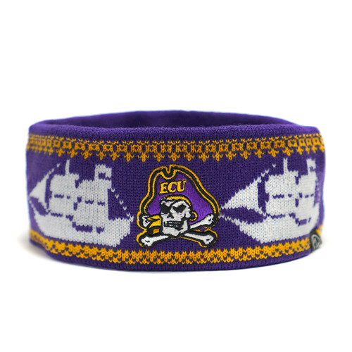 Purple Headband with Pirate Ships Background