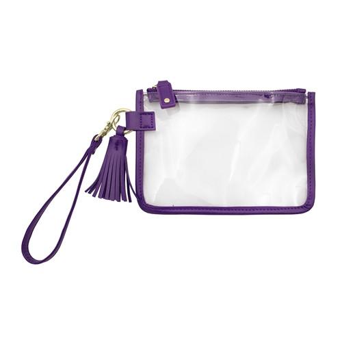 Purple Stadium Approved Wristlet