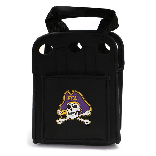 ECU Six Pack Cooler Tote with Jolly Roger