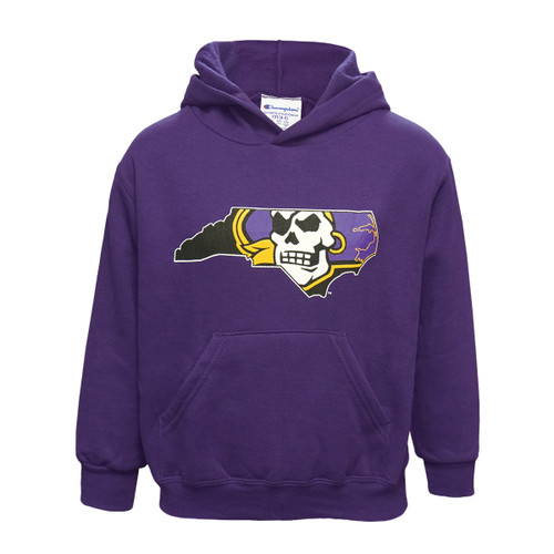 Youth Purple Hoodie Pirate State of Mind Logo