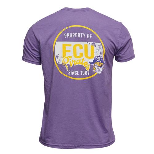 Purple Tee Piratehead Sabre Property of ECU Since 1907