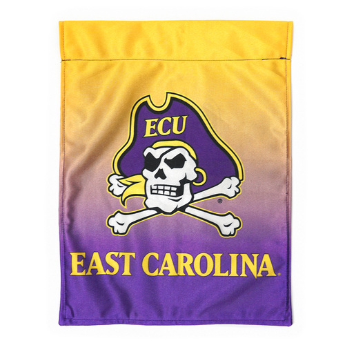Garden Flag East Carolina Ombre Purple and Gold