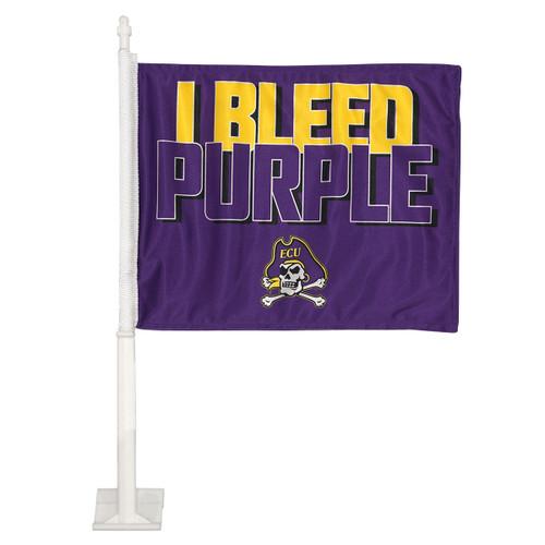 I Bleed Purple Car Flag