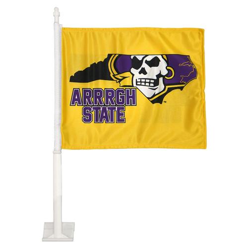 Gold Arrrgh State Pirate State of Mind Car Flag