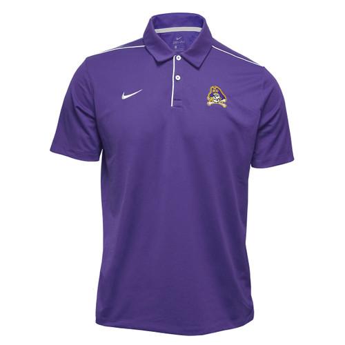 Purple Polo White Shoulder Stripe