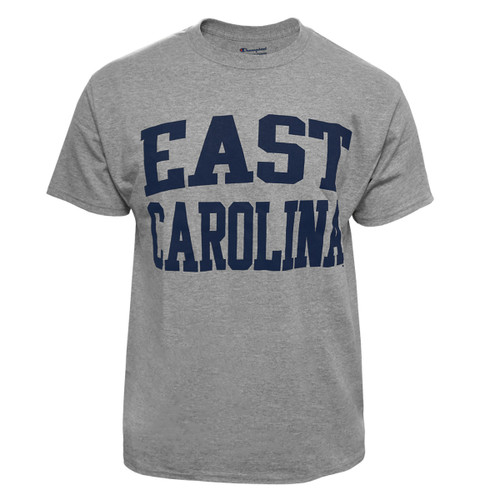 Grey East Carolina Arch Tee Navy