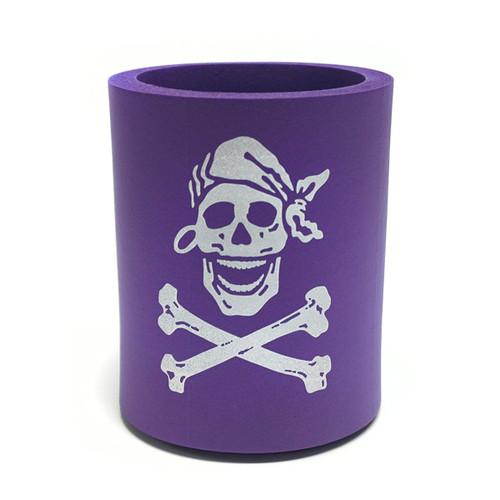 Skully Purple Neoprene Koozie