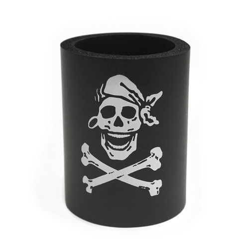 Skully Black Neoprene Koozie