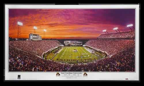 Pirate Sunset ECU vs UNC Panoramic Print