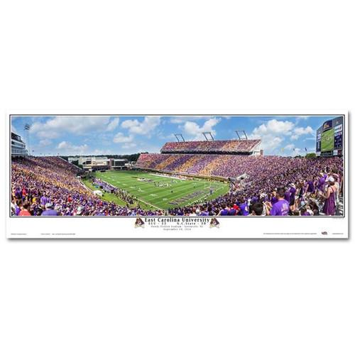 ECU vs NC State Purple & Gold Panorama Stadium Print