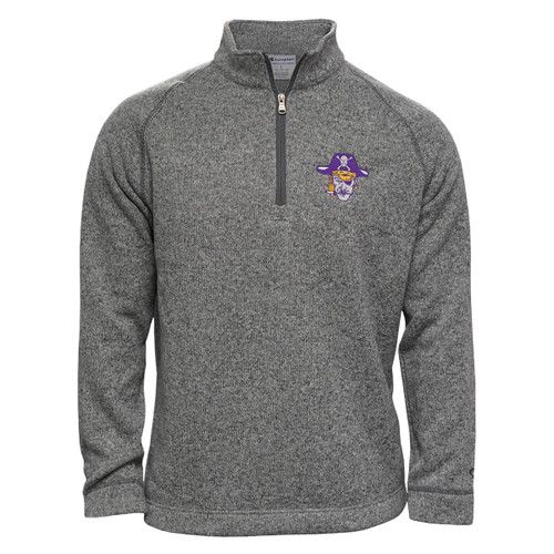 Grey Pullover 1/4 Zip Vault Piratehead